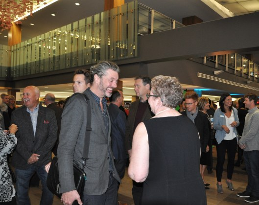 Architect David Warne and KPL staff Penny-Lynn Fielding