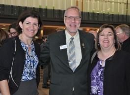 Loretta Notten, John Shewchuk, and Shelley Wood of WCDSB