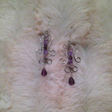 purplepink earrings