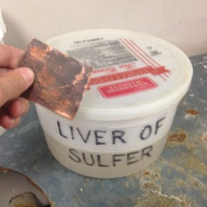 copper dipping into liver of silfer solution