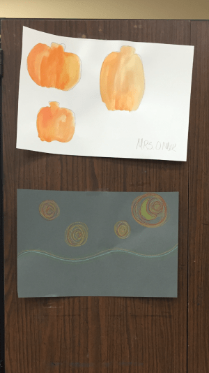 Water colored pumpkins