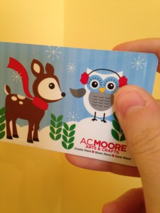 AC Moore Holiday gift card