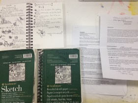 sketch book and syllabuses