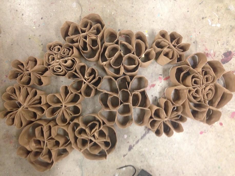 paper bag floral shapes