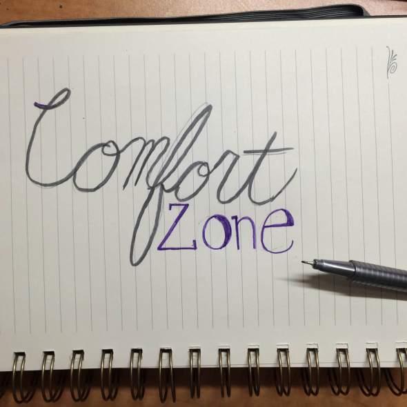 comfort zone sketch