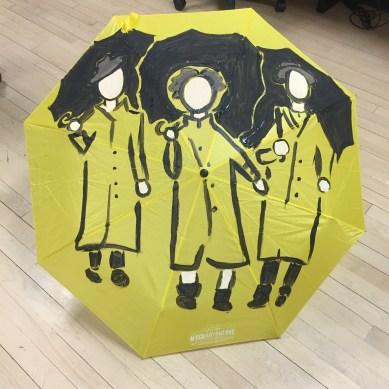 singing in the rain yellow umbrella