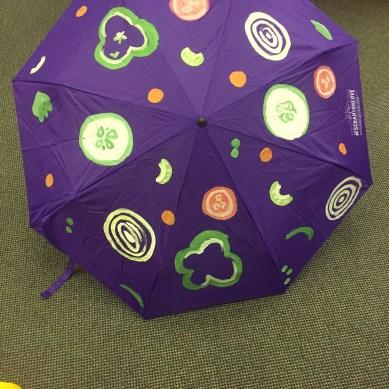 vegetable pattern purple umbrella