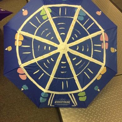 ferris wheel painted umbrella