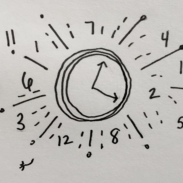 Clock with rays