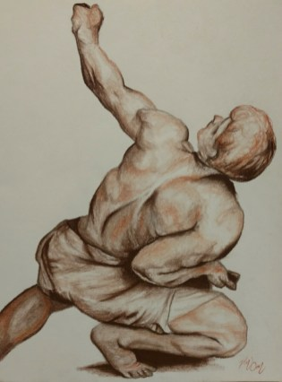 gesture, drawing, male, back, muscles