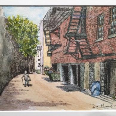 watercolor street painting