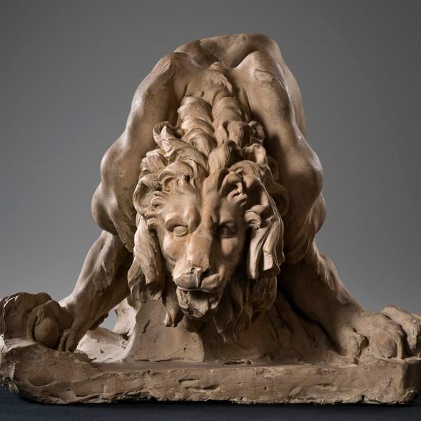 lion terracotta model