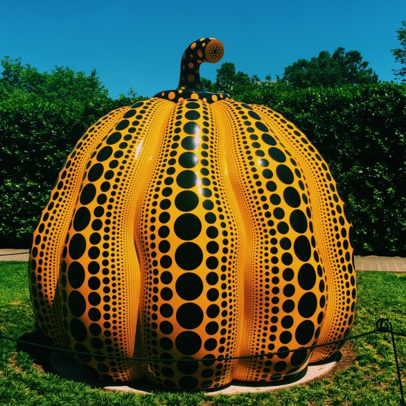 giant pumpkin sculpture