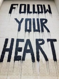 follow your heart mural