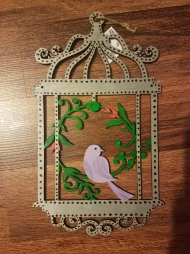 painted wood bird