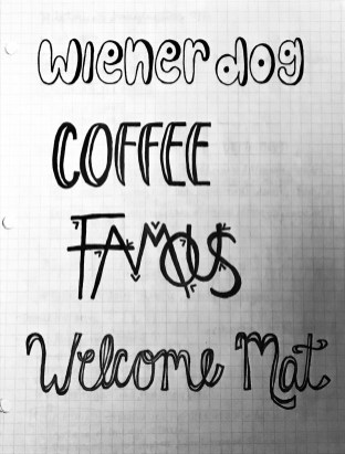 weiner dog coffee famous and welcome mat