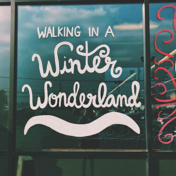 walking in a winter wonderland design text