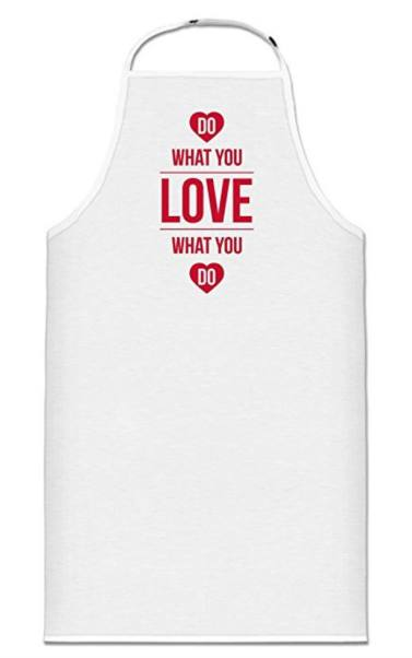 Screenshot- Shirtcity Do What You Love What You Do Cooking Apron One Size White Clothing