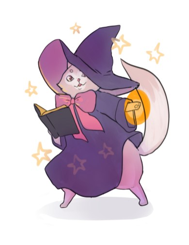 Mage cat drawing