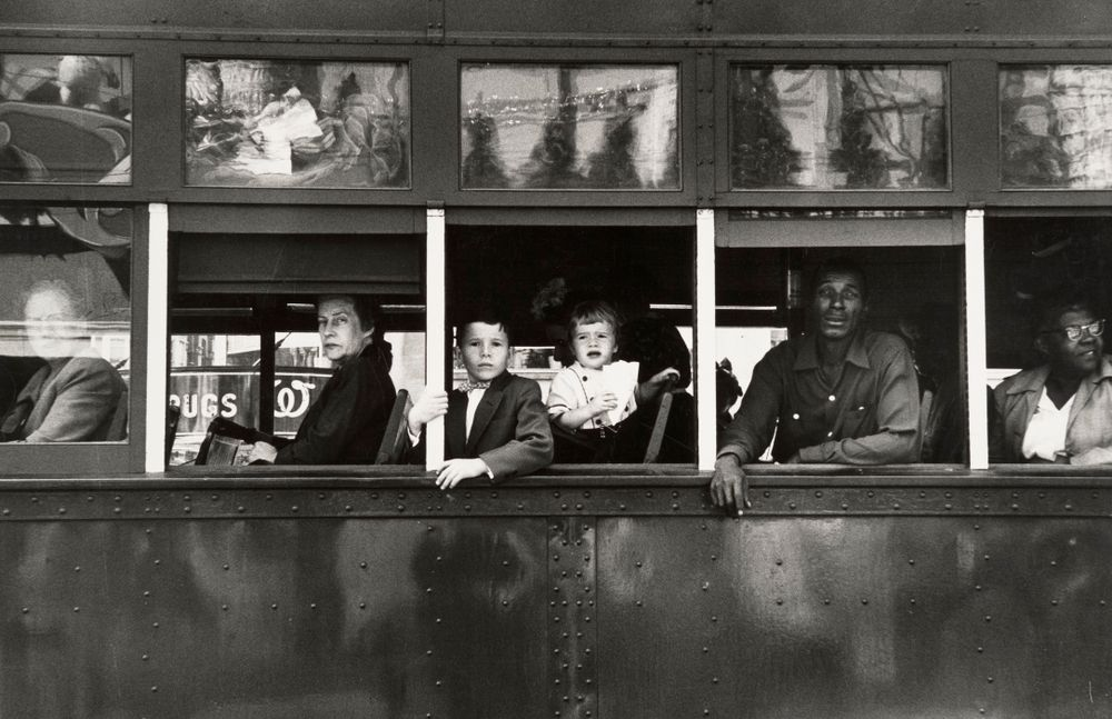 Trolly – New Orleans, 1955. From The Americans © Robert Frank