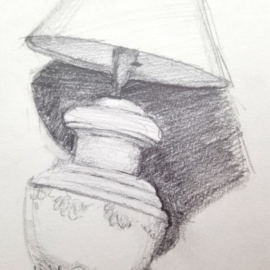 A sketch of a lamp