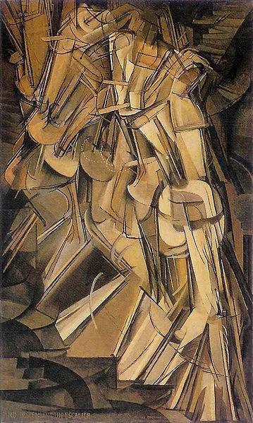 Duchamp, Nude Descending a Staircase, No. 2, 1912