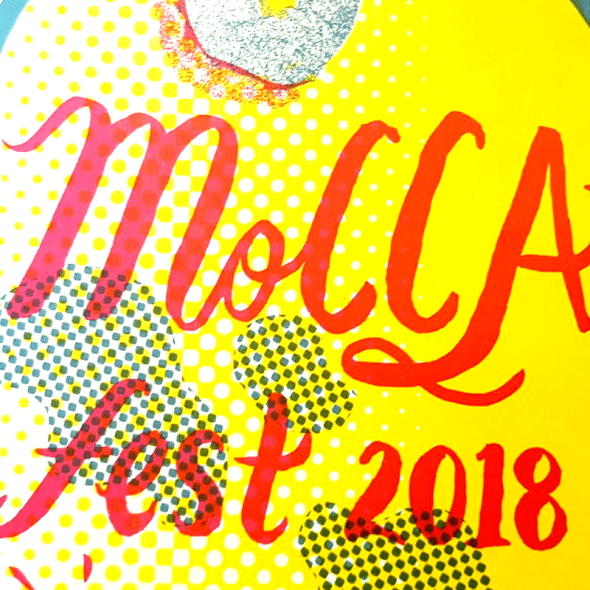 Close up of Mocca Fest welcome booklet