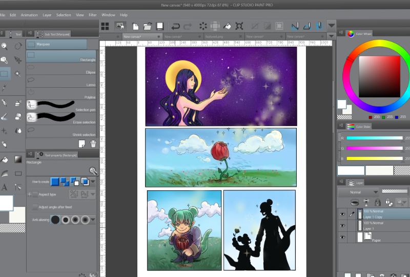 screenshot of clip studio paint
