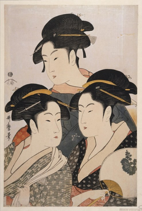 Kitagawa Utamaro, Three Known Beauties, 1793