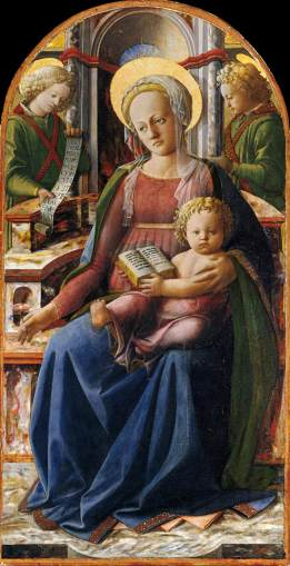 Lippi, Madonna and Child Enthroned with Two Angels, 1437