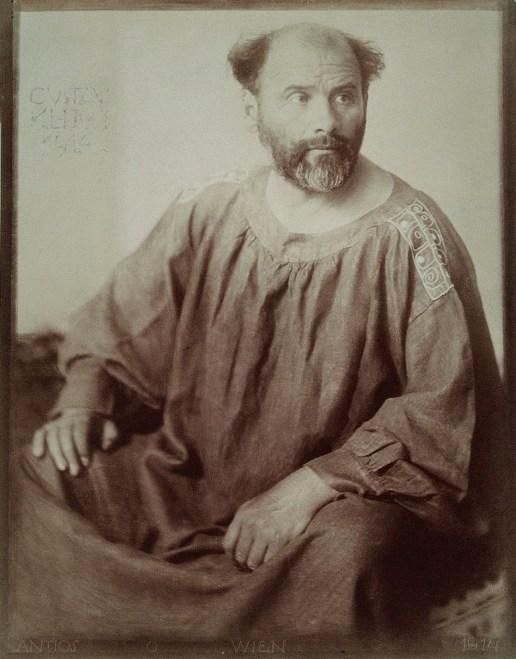 Gustav Klimt, Photography by Anton Josef Trčka, 1914