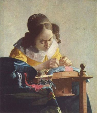 Vermeer, The Lacemaker, 1664