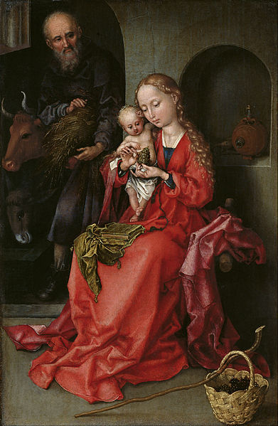 391px-Martin_Schongauer_-_The_Holy_Family_-_Google_Art_Project