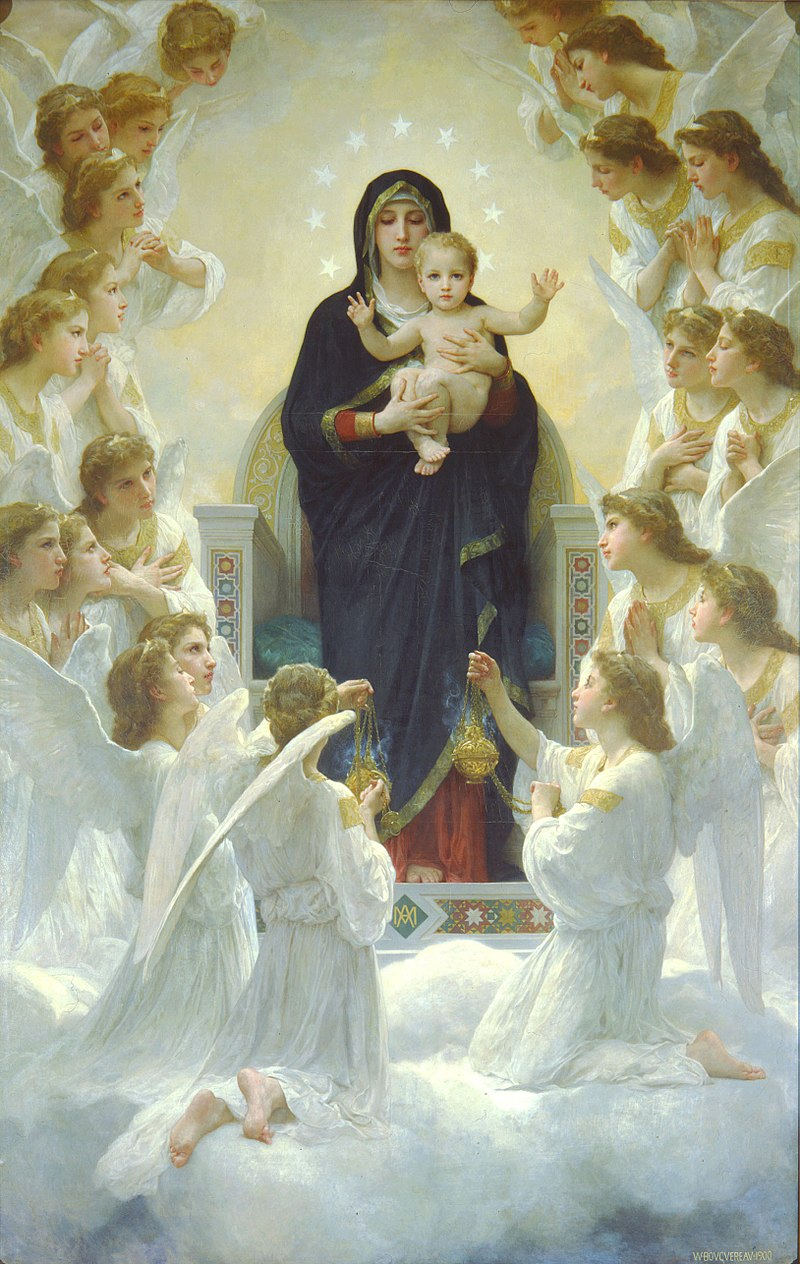 800px-William-Adolphe_Bouguereau_The_Virgin_With_Angels