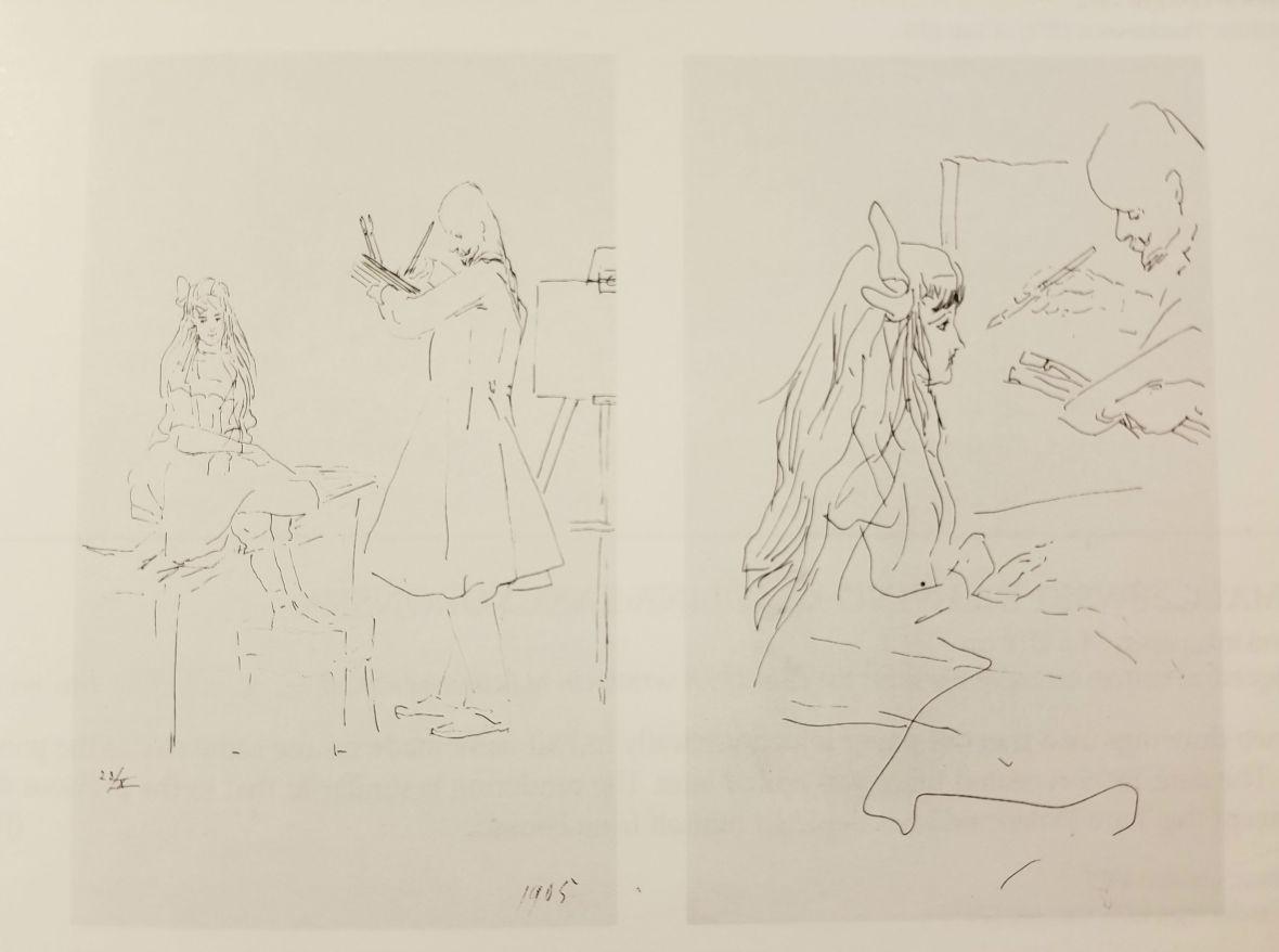 Malczewski Drawing Karolina Lanckoronska