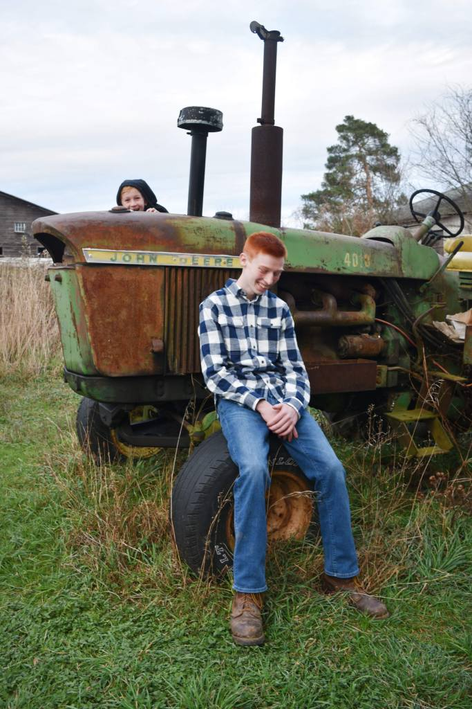 Brianna Pensak - J & J on The Tractor Laughing
