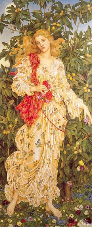Evelyn de Morgan, Flora, 1894