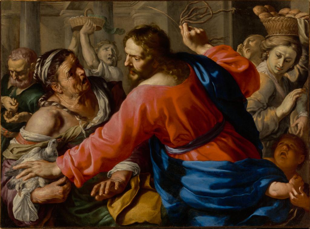 Bernardino Mei, Christ Cleansing the Temple, 1655
