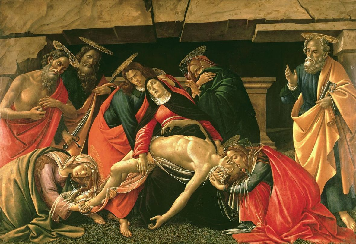 Sandro Botticelli, Pieta, 1490 and 1495