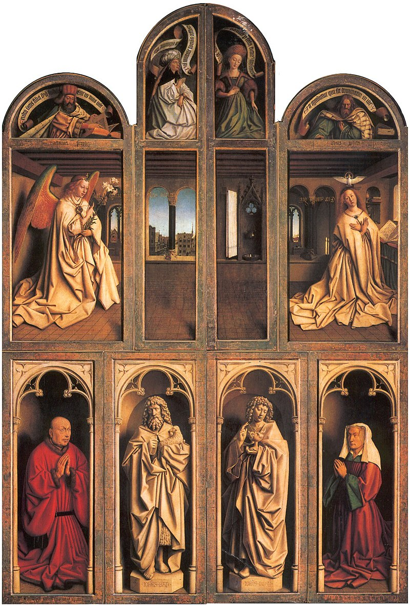 Ghent Altarpiece Closed Panels