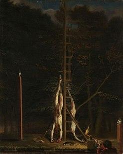 The Corpses of the De Witt Brothers, Jan de Baen