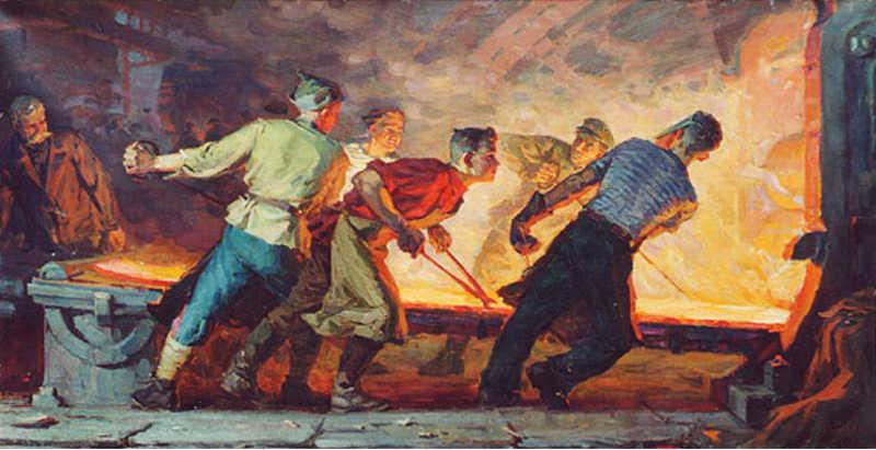 Ivan-Bevzenko-Young-Steel-Workers-1961