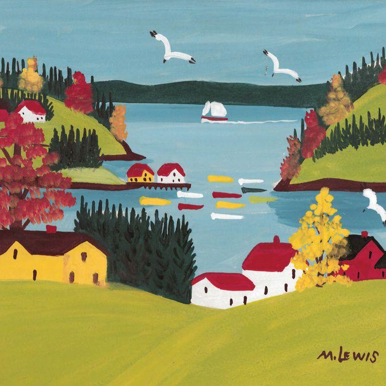 Maud Lewis, Coastal Scene