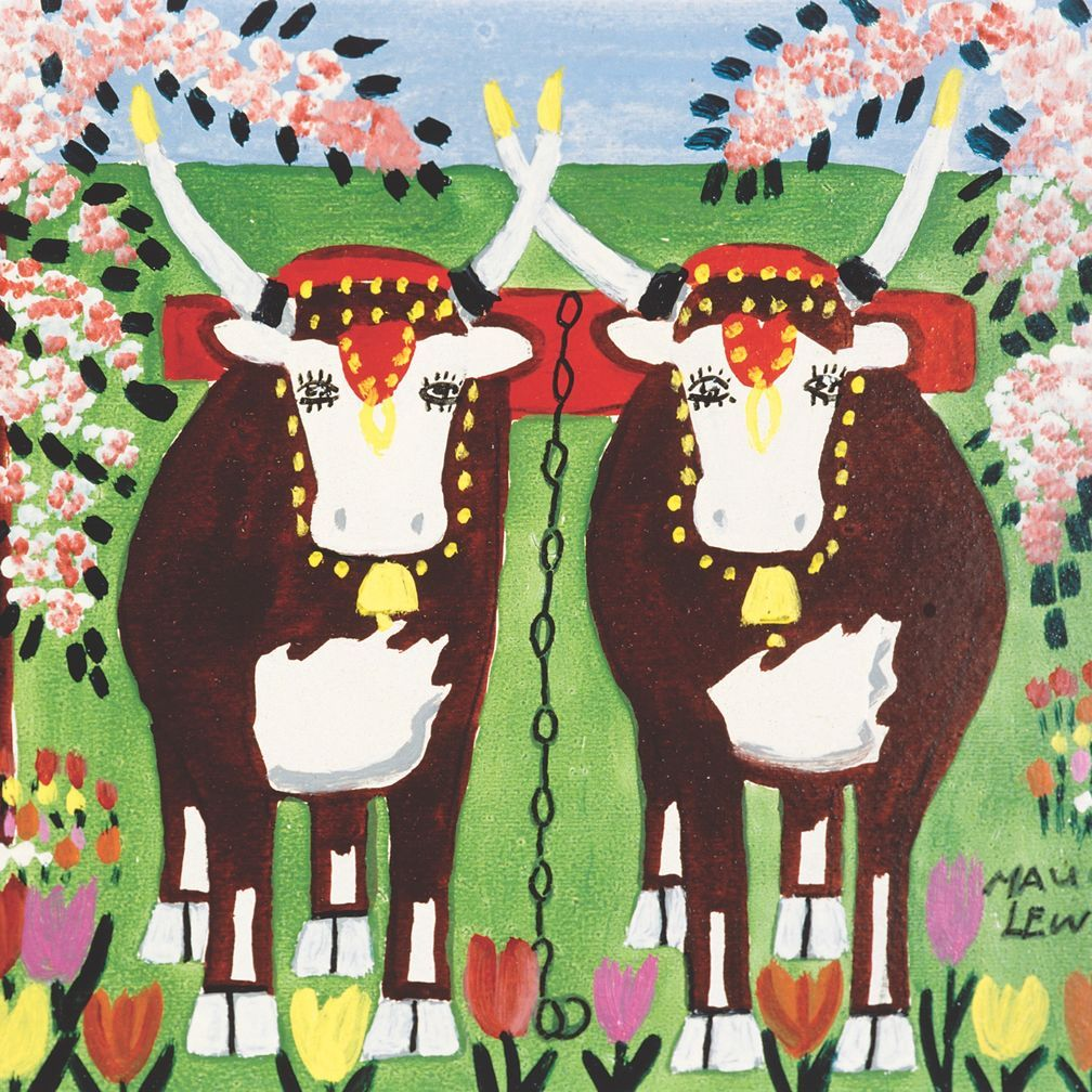 Maud Lewis, Oxen in Spring