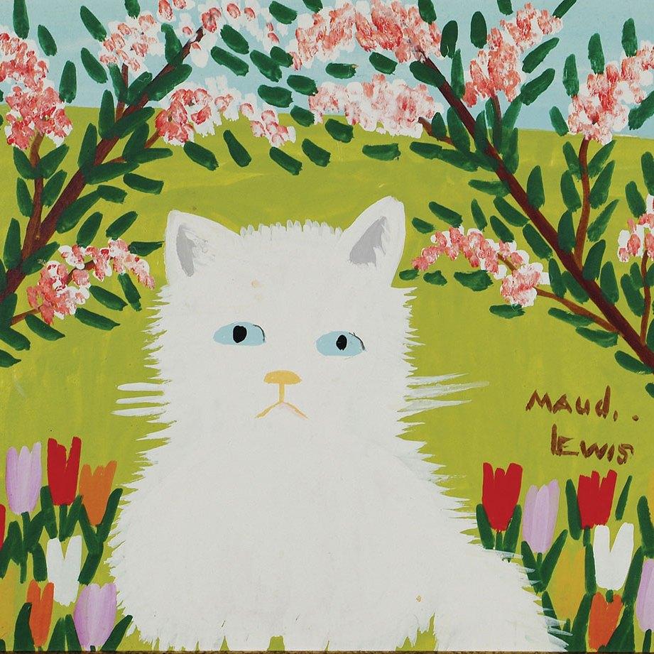 Maud Lewis, White Cat (2)