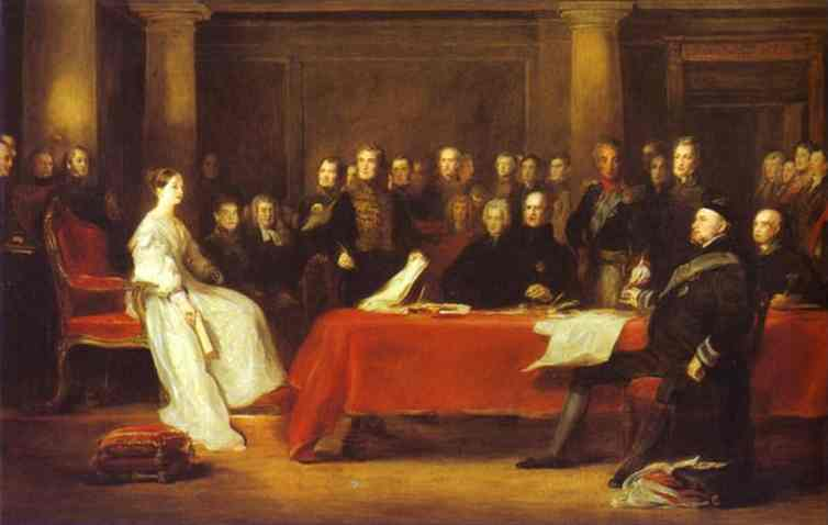 Queen Victoria's first council