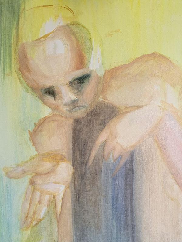 Tumnus Moran Painting for Sculpture Progress 4