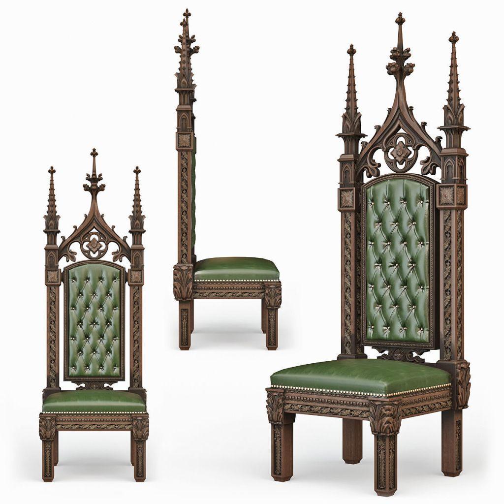 Green Gothic Chair
