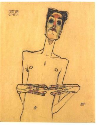Egon Schiele, Mime Van Osen, 1910