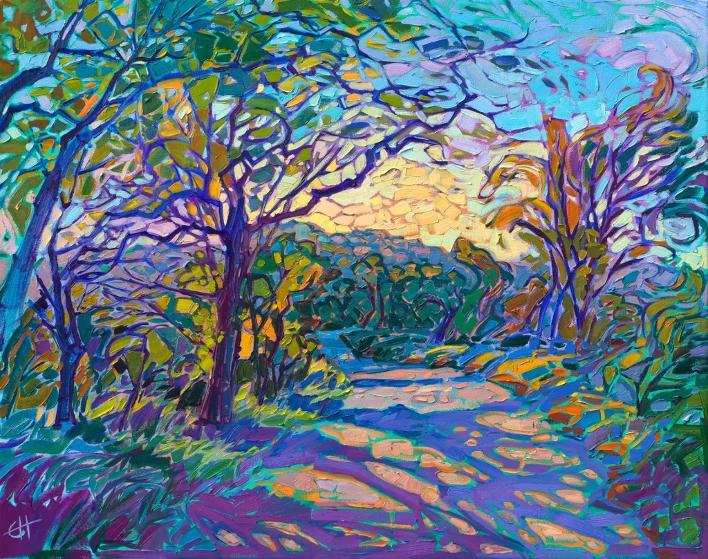 Erin Hanson, Crystalline Oaks